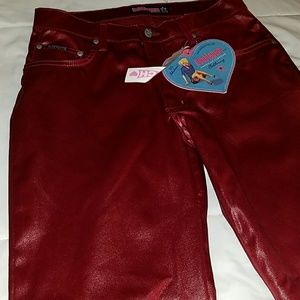 Shiney red pants